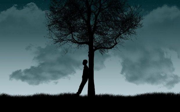 bersandar-pohon