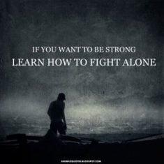 berjuang sendiri
